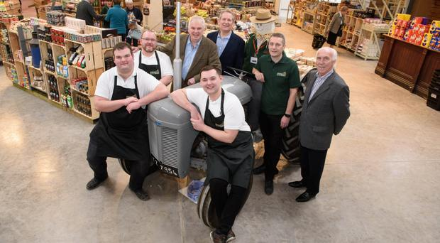 Staff at Colemans Garden Centre's new farm shop in Templepatrick