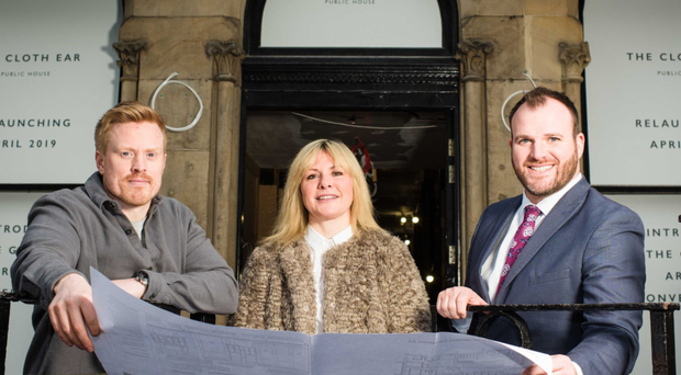 Conall Wolsey (left), director of Beannchor, Petra Wolsey, group marketing director of Beannchor, and Gavin Carroll, general manager of The Merchant Hotel
