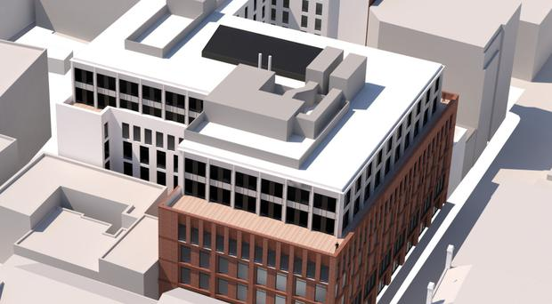 Artist's impression of new building to replace Norwich Union House