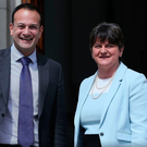 DUP leader Arlene Foster and Taoiseach Leo Varadkar following a 2017 meeting
