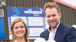 Adele McIvor of the Workspace Group and Stuart Carson from Rainbow