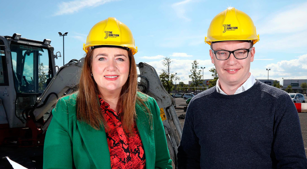 The Junction centre manager Leona Barr with Craig Stewart of Lotus Property