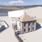An artist's impression of Town Dock House following the upgrade work