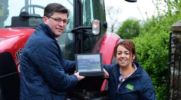Oliver and Karen McDonald, who are launching Farm Compare, a new online resource for farmers, at Balmoral Show