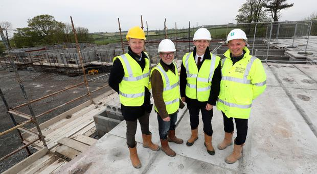 From left, Ian Holmes and Danny Sharpe of Northstar, BCM chief executive Nicky Conway and Declan McCormick, managing director at Hugh J O'Boyle