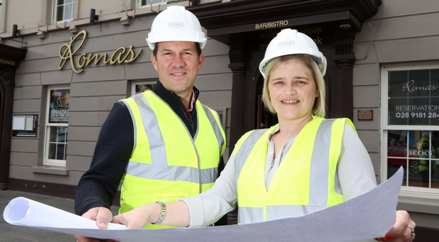 Wolf Inns managing director Andrew Gedge and Leanne McClinton of Romas