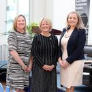 At the launch of Back Her Business in Titanic Hotel Belfast were (from left) Roseann Kelly, Women in Business; Alison Rose, NatWest chief executive of commercial and private banking, and Lynsey Cunningham, regional director of entrepreneurship at Ulster Bank