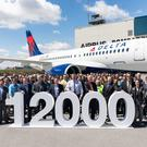 The Airbus A220-100 delivered to Delta Air Lines at the A220 final assembly plant in Mirabel, Canada, is the 12,000th aircraft delivered by Airbus since 1974