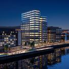 An artist's impression of the planned City Quays 3 development in Belfast, which at 16 storeys is set to become Northern Ireland's tallest office building