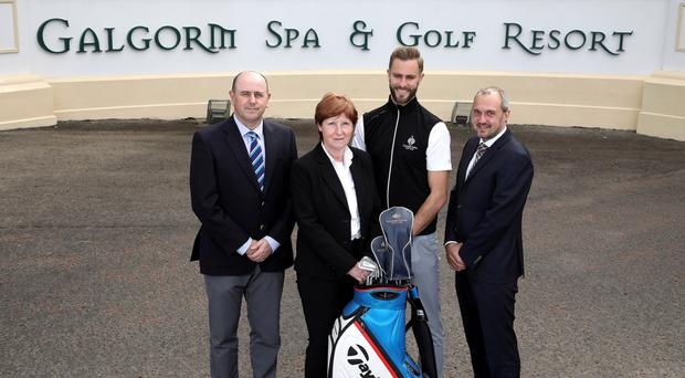Gary Henry, Galgorm Castle, Wilma Erskine, non-executive board member, Ross Oliver and Colin Johnston, Galgorm Spa & Golf Resort