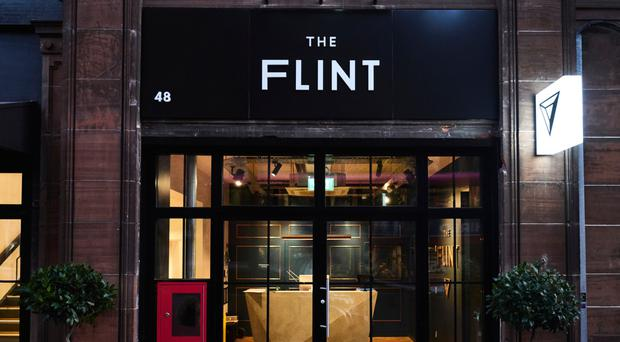 The Flint Hotel on Howard Street, which is set to build a new rooftop bar and restaurant