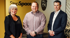 Ann Trueman of StepSpace; Stephen Walker of PA Consulting, and Damian Mitchell from Causeway Asset Management