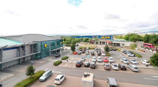 An artist's impression of the New Lidl Holywood Exchange store