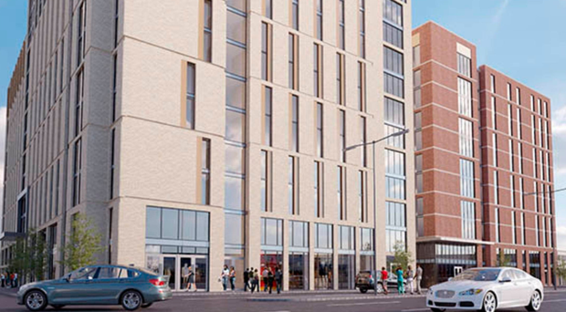 Proposed student accommodation on Belfast's York Street