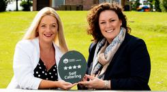 Deborah Avery (left), Tourism NI, with Jenny Crozier of Kingfisher Lodge