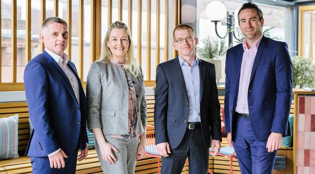 From left: Ortus Secured Finance director Shane Donnelly, Glandore sales manager Caroline McSorley, Imperva director of customer success Roger Flynn, and Glandore business development manager Nial Borthistle