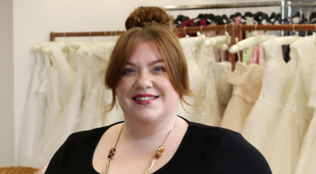 Rebecca Bryson, owner of Curvy Chic Bridal, in the new boutique