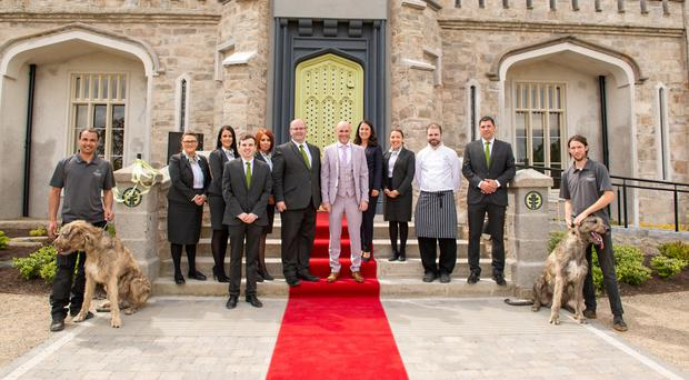 Some of the staff at the newly-opened hotel
