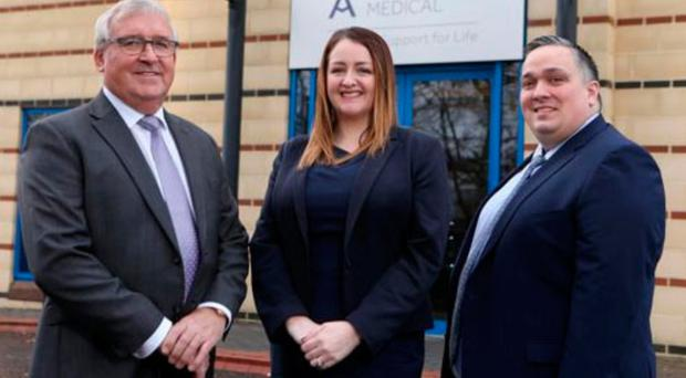 Armstrong Medical hosted an NI Chamber Export First event last year. Managing director John Armstrong was joined by Sandra Scannell of the Chamber and Aaron Ennis of Danske Bank