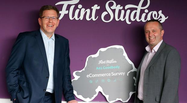 From left, Mark Thompson, corporate partner at A&L Goodbody, and Jeremy Biggerstaff, managing director at Flint Studios