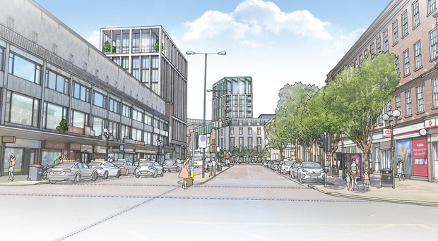 How the reduced Tribeca tower would look from Belfast's Bridge Street