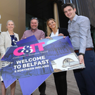 From left: Caitriona Lavery, group sales manager of Hastings Hotels; Michael Hamilton from XSEM; Charlee-Rose Greenwood from Simply Better Events, and Calum Di Lieto, editor of C&IT