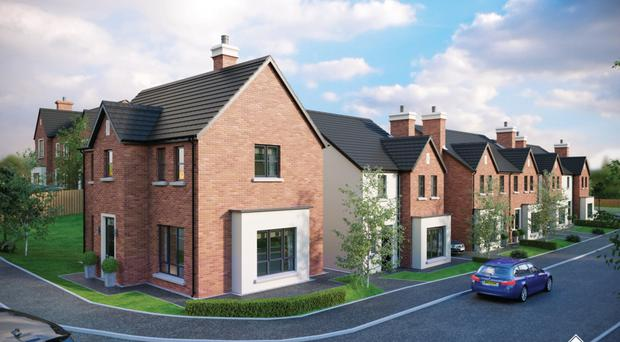 An artist's impression of the latest phase of PWD Development's Brooke Hall housing scheme in south Belfast