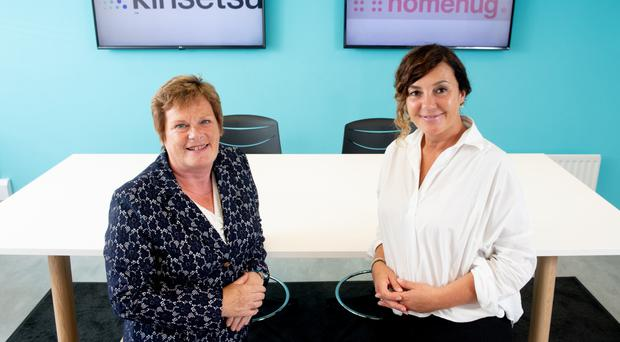 Dr Vicky Kell (left) of Invest NI with Joanne O'Doherty from Kinsetsu