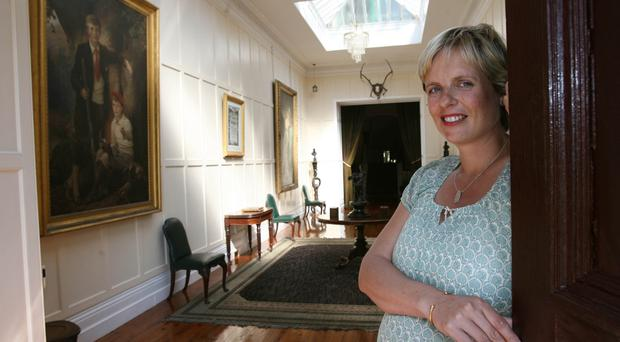 Marion Needham Russell in Mourne Park House before it was destroyed by fire