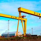 Samson and Goliath, the giant cranes in Harland & Wolff shipyard