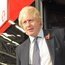 Boris Johnson as mayor of London on a Wrightbus