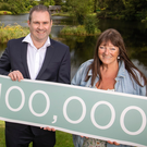 Managing director David Wilson with Eleanor Jordan from Belfast, the 100,000th visitor to Montalto Estate