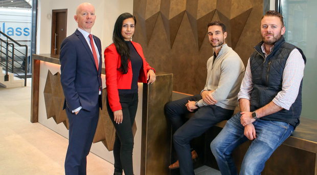 From left: David Wright, office agency director at CBRE; Kimia Benam of KB Architects; Will Mitchell, asset manager at M7 Real Estate and Mark Louden, Portview