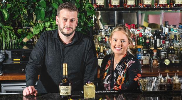 Michael Patterson, food and beverage manager at Bullitt Belfast, with Laura Shiels, brand manager for Moet Hennessy at Dillon Bass