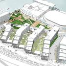 An artist's impression of the Odyssey Quays scheme in Belfast