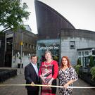 Catalyst CEO Steve Orr, Mid and East Antrim Mayor Maureen Morrow, and Anne Donaghy, CEO, Mid and East Antrim Borough Council