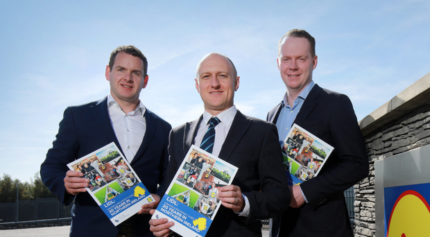 JP Scally, Lidl; Neil McCullough, Oxford Economics, and Conor Boyle, Lidl