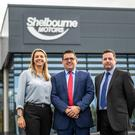 Caroline Willis, financial director at Shelbourne Motors' new showroom, with brothers Richard and Paul Ward, who are sales directors