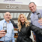 DFS Ireland manager John Kelly, Melissa Riddell of Cool FM and Gerard McCrory, DFS