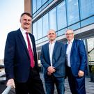 From left: William McCulla, Invest NI; Jamie Andrews, Techstart Ventures, and Colin Walsh, Crescent Capital