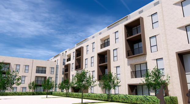 Artist's impression of the new apartments