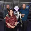 From left: Austin Tanney, Kainos; Gillian Armstrong, Liberty IT, and Alastair McKinley, Analytics Engines