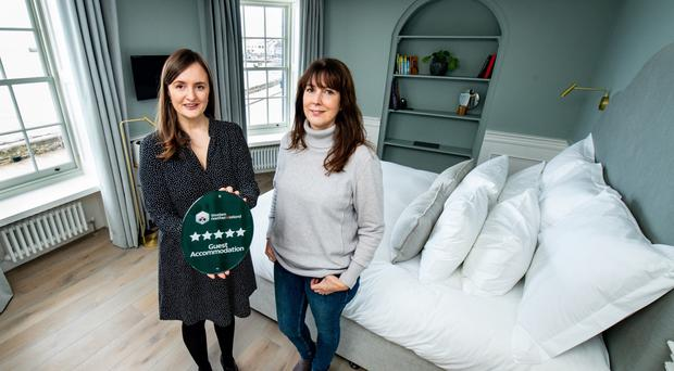 Samantha Corr of Tourism NI (left) with Karen Bolleboom, owner of One Shore Street