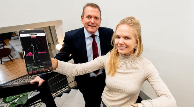 Derek Andrews, head of international investment at Invest NI and Karoline Gross, founder and chief executive of Smartzer