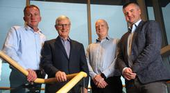 Derek Tynan, area sales manager; Seamus McCann, chairman and founder; Conor Moore, finance director and Chris McCann, retail director at Armatile