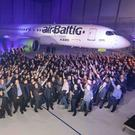 The delivery of the latest A220 to airBaltic