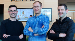 Almac scientists Fernando Tur Espinosa, Stefan Mix and Gareth Brown, who will be working on a project funded by the Bill & Melinda Gates Foundation