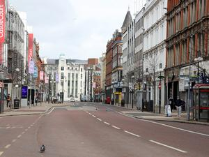 Belfast streets were empty for weeks during the lockdown.