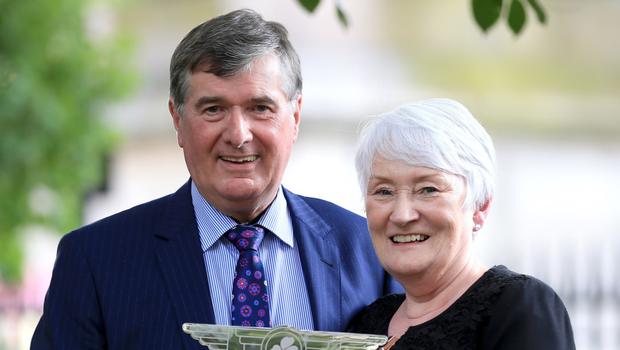Trevor Annon, chairman of Mount Charles, recipient of the Lifetime Achievement Award, with his wife Cate
