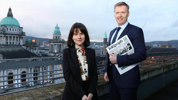 Margaret Canning, Belfast Telegraph Business Editor, and Mark Crimmins, head of Ulster Bank